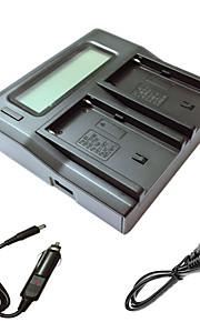 ismartdigi F550 FM500H lcd dual oplader med bil afgift kabel til Sony NP-F550 NP-F330 NP-F530 NP-F570 npf550 FM50 FM500H kamera batterys