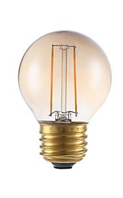 2W E26/E27 LED-glødepærer G16.5 2 COB 160 lm Ravgult Dimbar V 1 stk.