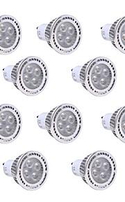 4W GU10 LED-spotpærer 4 SMD 3030 300-400 lm Varm hvit / Kjølig hvit Dekorativ AC 85-265 V 10 stk.