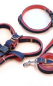 כלבים קולרים / רתמות / רצועות חוזרמתכווננת / בטיחות טלאים Red / Black / כחול בד