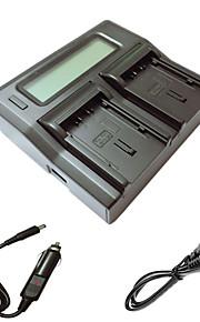 ismartdigi vbn130 260 lcd dual oplader med bil afgift kabel til Panasonic vbn130 260 kamera batterys