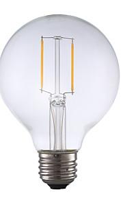 2W E26 LED-glødepærer G80 2 COB 220 lm Varm hvit Dimbar AC 110-130 V 1 stk.