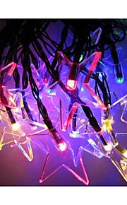 4m ledet 2v kul multi farge solenergi vanntett string lys