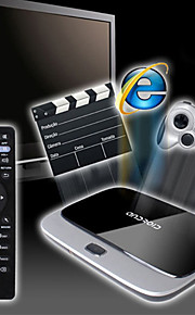x6 android 4.4 caixa de tv inteligente (wifi, blue-tooth, lan, usb, hdmi, tf)