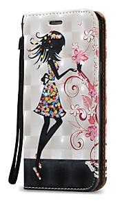 Для Кошелек / Бумажник для карт / Флип Кейс для Чехол Кейс для Соблазнительная девушка Твердый Искусственная кожа для SamsungA5(2016) /