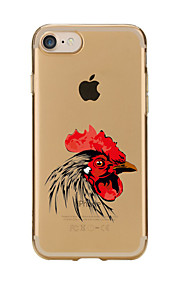For Transparent Pattern Case Back Cover Case Cartoon Chicken Soft TPU for IPhone 7 7Plus iPhone 6s 6 Plus iPhone 6s 6 iPhone 5s 5 5E 5C