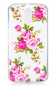 For Motorola MOTO G4 Case Cover Rose Pattern Luminous TPU Material IMD Process Soft Phone Case
