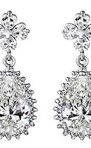 TEEMI AAA Azircon Fine Jewelry Drop Earrings / Ball Earrings Jewelry Women Wedding / Party / Casual Zircon 1 pair Silver