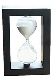 Timeglas Originalt legetøj Cirkelformet Firkantet Glas Sort Fade Ivory Til drenge Til piger 5 til 7 år 8 til 13 år 14 år og op efter