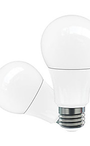 5W E26/E27 LED 글로브 전구 A60(A19) 5 고성능 LED 200-500 lm 따뜻한 화이트 차가운 화이트 내추럴 화이트 레드 블루 옐로 그린 핑크 장식 AC 85-265 AC 220-240 AC 12 AC 110-130 V 2개