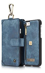 Für Geldbeutel / Kreditkartenfächer / Stoßresistent Hülle Handyhülle für das ganze Handy Hülle Einheitliche Farbe Hart Echtes Leder für