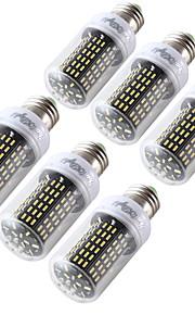 6W E26/E27 LED-kornpærer T 138 SMD 4014 400 lm Varm hvit Kjølig hvit Dekorativ AC110-220 V 6 stk.