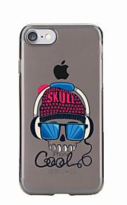 Para Transparente / Diseños Funda Cubierta Trasera Funda Calavera Suave TPU para AppleiPhone 7 Plus / iPhone 7 / iPhone 6s Plus/6 Plus /