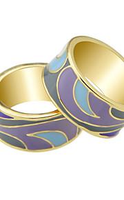 Ringe Afslappet Smykker Legering Dame Statement Ringe 1pc,7 / 8 Rosa / Gul / Regency