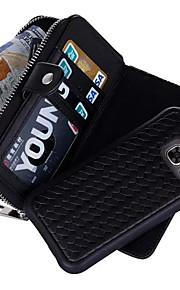 ל ארנק / מחזיק כרטיסים מגן גוף מלא מגן צבע אחיד קשיח עור אמיתי ל Samsung S7 edge / S7 / S6 edge plus / S6 edge / S6 / S5 / S4