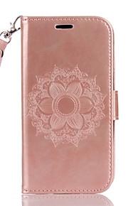 For LG K10 K8 K7 G4 G3 PU Leather Material Datura Flowers Pattern Butterfly Phone Case