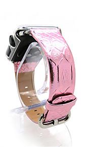 Qualität Hochglanzlack Echtlederarmband für iwatch Bandbügel Armband 38mm 42mm