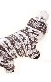 Perros Saco y Capucha / Mono Gris Ropa para Perro Invierno / Primavera/Otoño Flores / Botánica Deportes / Mantiene abrigado