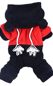 개 점프 수트 블랙 강아지 의류 겨울 / 모든계절/가을 동물 캐쥬얼/데일리