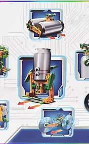 Soldrevet legetøj Originalt bidelegetøj Grøn Hvid ABS