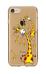 Für Transparent / Muster Hülle Rückseitenabdeckung Hülle Tier Weich TPU für AppleiPhone 7 plus / iPhone 7 / iPhone 6s Plus/6 Plus /