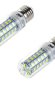 4W E26/E27 LED-kornpærer T 48 SMD 5730 250 lm Varm hvit Dekorativ AC 220-240 V 2 stk.