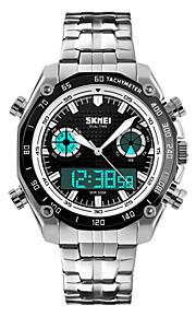 Masculino Relógio Elegante / Relógio de Moda QuartzoLED / Calendário / Cronógrafo / Impermeável / Dois Fusos Horários / alarme /