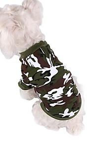 Hundar Kappor / Huvtröjor Grön / Rosa / Grå Hundkläder Vinter Kamouflage Mode / Sport