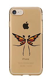 Für Transparent / Muster Hülle Rückseitenabdeckung Hülle Schmetterling Weich TPU für AppleiPhone 7 plus / iPhone 7 / iPhone 6s Plus/6