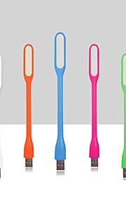 5pcs flexibler usb führte für Laptops bewegliche Energienaufladeeinheit Leselampe (zufällige Farbe)