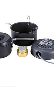 Stainless Steel Steel Aluminium Alloy Camping Eating Utensil Set Cookware Set Pot Stove Sets Camping BBQ Hiking Outdoor Picnic