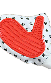 Cat / Dog Cleaning Brush / Baths Pet Grooming Supplies Massage Red / White Fabric / Rubber