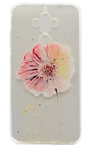 For Huawei P9 Plus P9 Lite P9 P8 Lite Y5 II Honor V8 Honor 8 Y600 Nova Mate 9 TPU Material Flowers Pattern Painted Relief Phone Case