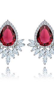TEEMI Drop Shape AAA Zircon Earring Diamond Stud Earrings Fine Jewelry Women Wedding / Party Zircon 1 pair White