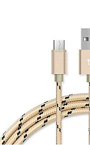 USB 2.0 Плетение Кабели Назначение Samsung Huawei HTC Lenovo Xiaomi 100 cm Нейлон