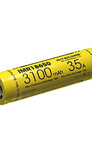 NITECORE IMR18650 3100MAH 35A Li-ion Rechargeable Battery