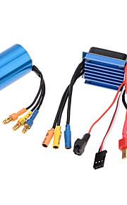 Geral Geral RC Motores/Motors Controlador de velocidade (ESC) RC Carros / Buggy / Caminhões Barcos RC Preto Azul Metal Plástico 1 Peça