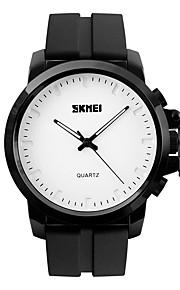 Masculino Relógio Elegante / Relógio de Moda / Relógio de Pulso Quartzo Impermeável / Mostrador Grande Silicone Banda Legal Preta marca