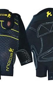 BODUN /SIDEBIKE® スポーツグローブ フリーサイズ サイクルグローブ 夏 サイクルグローブ 高通気性 耐摩耗性 耐久性 反射材 保護 フィンガーレス メッシュ サイクルグローブ ブラック ブルー フィットネス