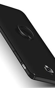 ל עם מעמד מחזיק טבעת מזוגג מגן כיסוי אחורי מגן צבע אחיד קשיח PC ל OnePlus One Plus 3 One Plus 3T