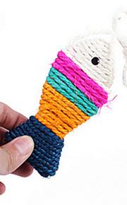 Brinquedo Para Gato Brinquedos para Animais Interativo Desenhos Animados Cáqui Sisal