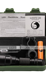 U'King ZQ-X1000#1 Cree XM-L T6 LED 1000 Lumens 3 Mode 18650 Adjustable Focus Nonslip grip Flashlight EmergencyCamping/Hiking/Caving