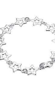 Armbånd Kæde & Lænkearmbånd Plastik Sølvbelagt Stjerneformet Personaliseret Mode Boheme Stil Punk Stil Daglig Afslappet Smykker Gave Sølv,