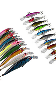 Lot 20 pcs Hard Bait / Swimbaits / Minnow / Fishing Hooks / Fishing Lures Hard Bait / Minnow / Lure Packs Assorted Colors 13.5 & 10.5 g