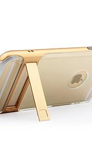 Per Con supporto Custodia Custodia posteriore Custodia Tinta unita Resistente Silicone per AppleiPhone 7 Plus iPhone 7 iPhone 6s Plus/6