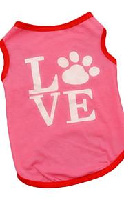 Hundar Väst Röd Hundkläder Sommar Britisk Gulligt Ledigt/vardag