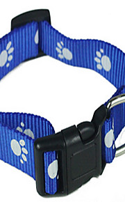 Cat Dog Collar Breathable Solid Blue Fabric