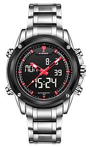 Masculino Relógio Esportivo Relógio Militar Relógio Elegante Relógio de Moda Relógio de Pulso Quartzo Digital Calendário Lega Banda
