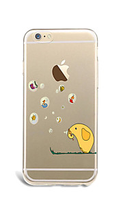 For Cartoon Case Back Cover Case Cartoon Soft TPU for Apple iPhone 7 Plus iPhone 7 iPhone 6s Plus/6 Plus iPhone 6s/6 iPhone SE/5s/5