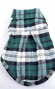 Cani T-shirt Verde Abbigliamento per cani Primavera/Autunno A quadri Divertente